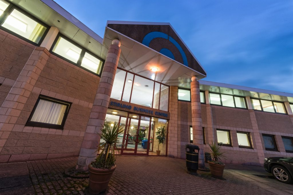 Stirling Business Centre Office Front Entrance View