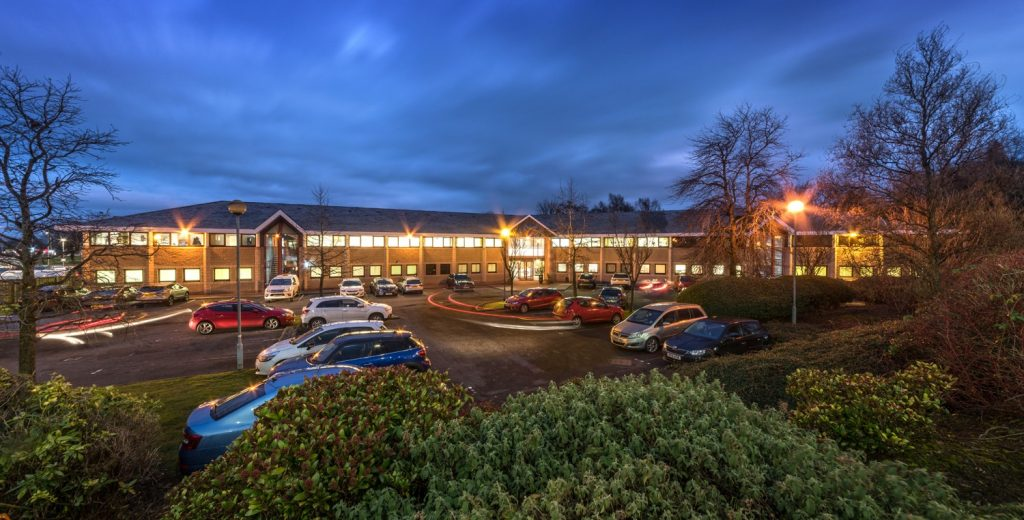 Stirling Business Centre Office Space Commercial Property Night View